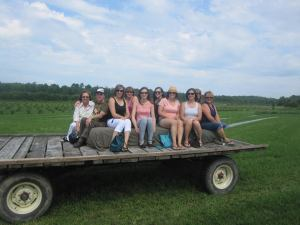Boreal Winery is open for wine tours and tastings for all kinds for groups. In the photo above - their wagon rides across the fruit orchards.