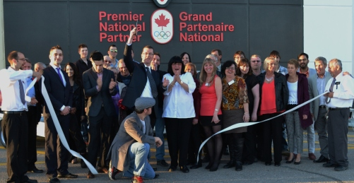 In April of 2015 Canadian Tire held its official grand Re-Opening, with the Marchand's and all their staff.