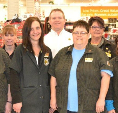 Rob Rowlandson with some of his staff at Giant Tiger.