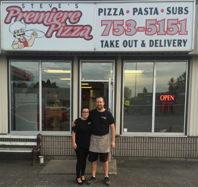 Sabrina and Steve Bradley in front of their store.